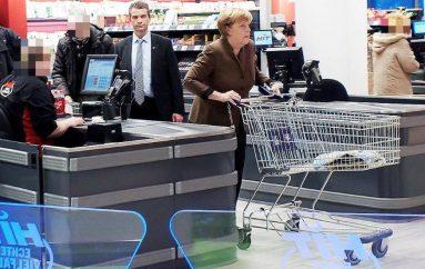 Kancelarja Gjermane në supermarket