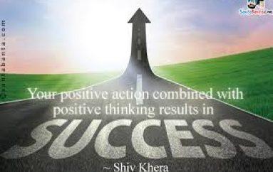 """""""Veprimi pozitiv i kombinuar me të menduarit pozitiv rezulton në sukses"""""""