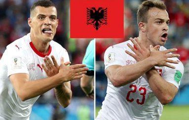 Shqiponjat 'pushtojnë' rrjetet sociale, festë për golat e Xhakës dhe Shaqirit