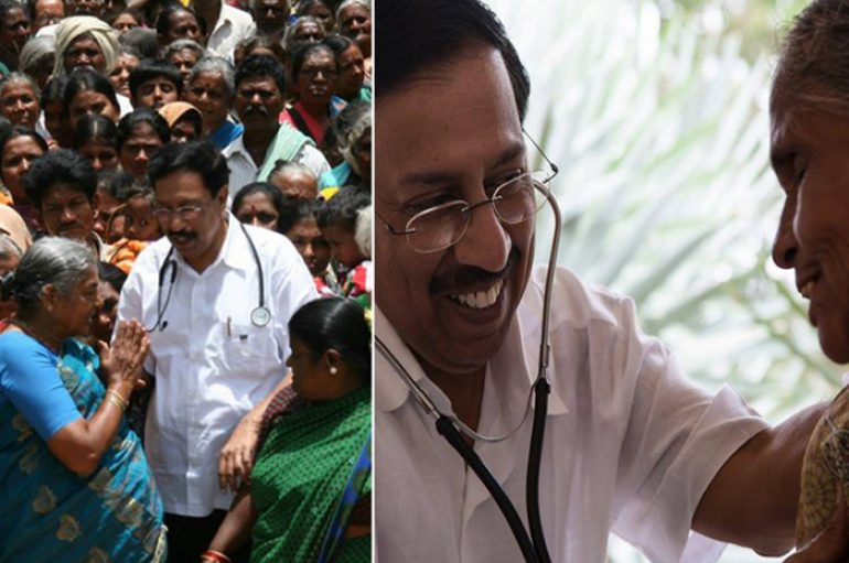 Që nga viti 1974, çdo të dielë ky mjek dhe ekipi i tij trajtojnë 700-1200 pacientë pa kosto