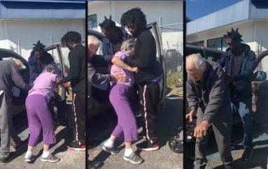 Policja filmon të rinjtë që ndihmojnë çiftin e të moshuarve, gjesti frymëzon miliona njerëz