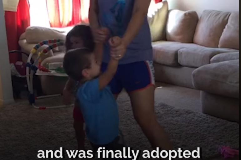 Motra adopton vëllain