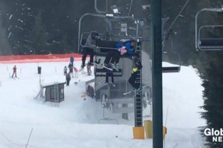 Adoleshentët shpëtojnë 8 vjeçarin e varur nga ashensori i skive
