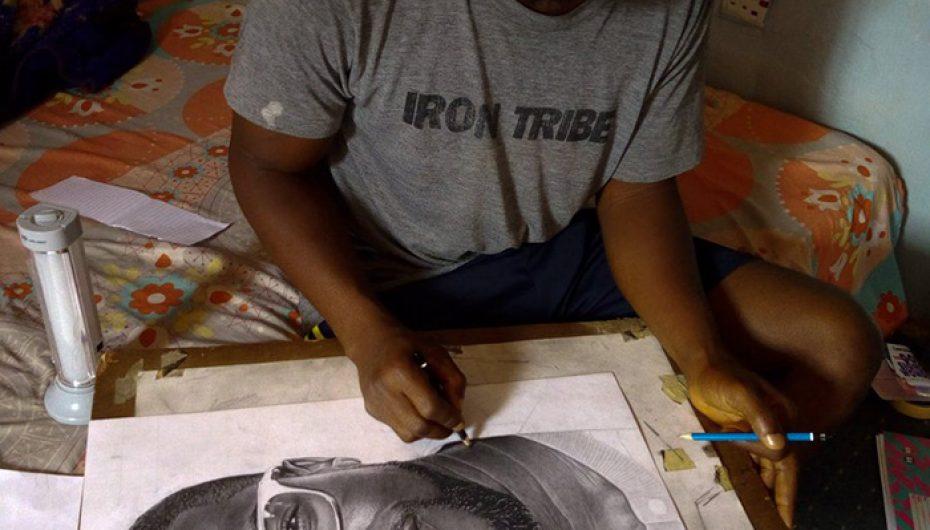 Vizaton portretin e komedianit të preferuar, artisti surprizohet nga reagimi i tij