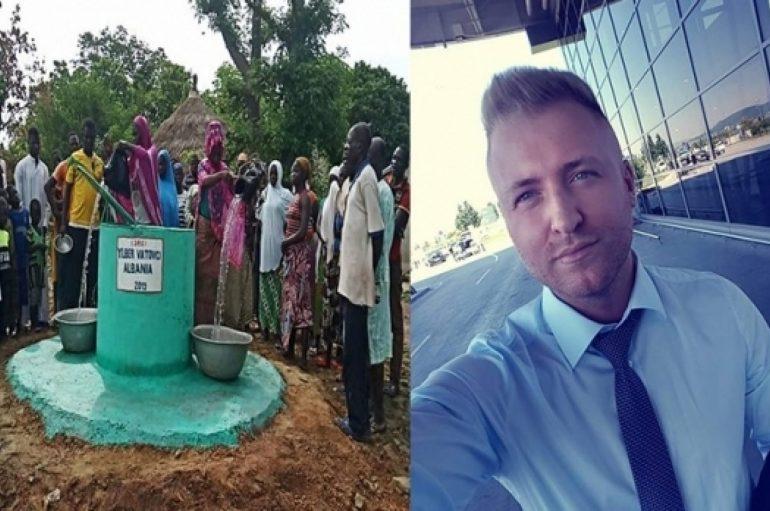 Ndërtoi pus për banorët e një fshati në Afrikë, 24 vjeçari shqiptar përcjell një mesazh të rëndësishëm