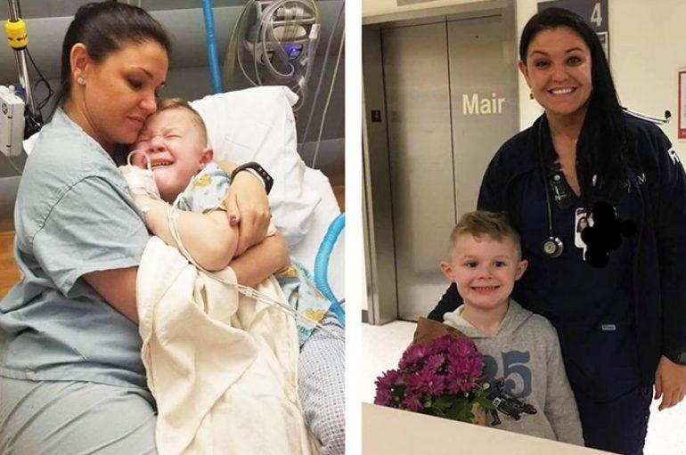 Foto sa njëmijë fjalë, infermierja prek zemrat me gjestin ndaj 5 vjeçarit të sapodalë nga operacioni
