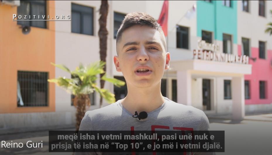 Rei, i vetmi djalë në 10 maturantët më të mirë në Shqipëri