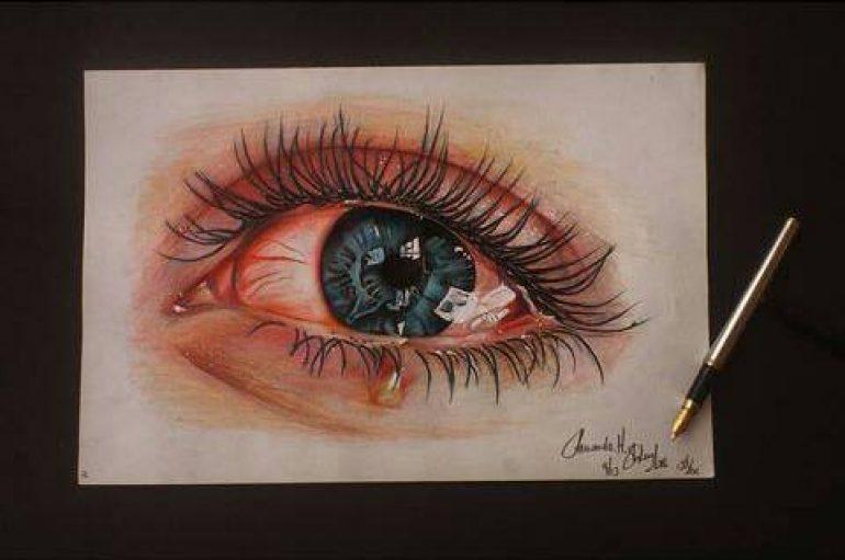 """Studentja e arkitekturës """"shndërron"""" realitetin përmes syve, """"misteri"""": Marr kënaqësi nga dhimbja"""