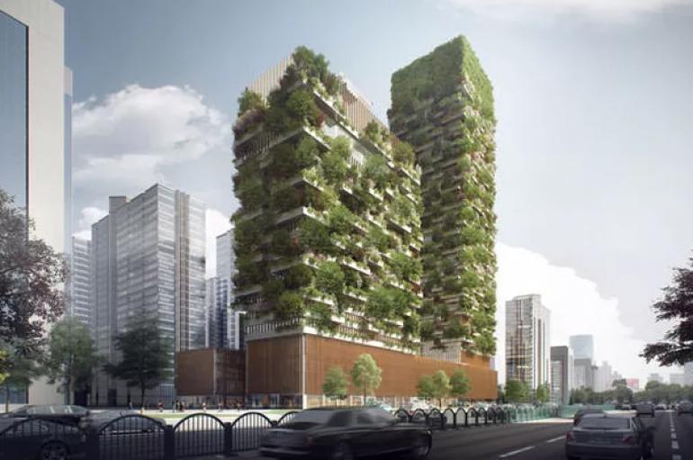 Pylli i parë vertikal në Azi do të ulë ndotjen urbane