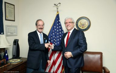 Flamuri amerikan valëvitet mbi Capitol Hill, për nder të biznesmenit dhe filantropit shqiptar Lazim Destani