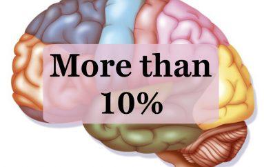 Miti bie poshtë, shkencëtarët tregojnë sa përqind të trurit përdor njeriu