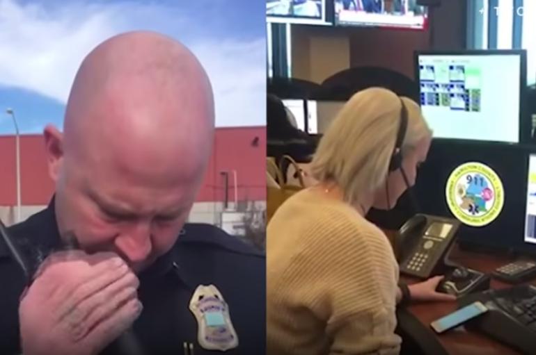 Oficeri i policisë bën telefonatën emocionuese në fund të detyrës