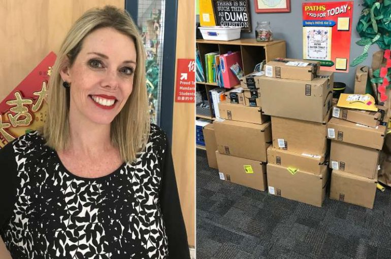 Mësuesja publikon rrogën e ulët dhe shpenzimet shtesë, i huaji i dërgon furnizime për klasën çdo semestër