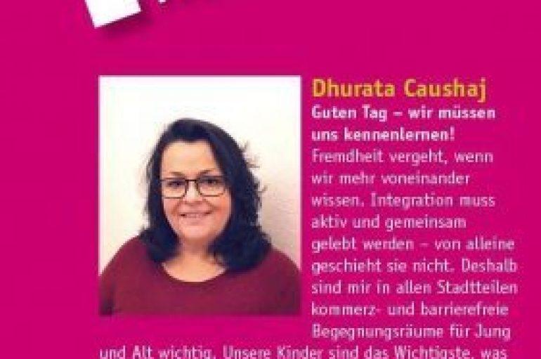 Dhurata, kandidate në këshillin bashkiak në Gjermani