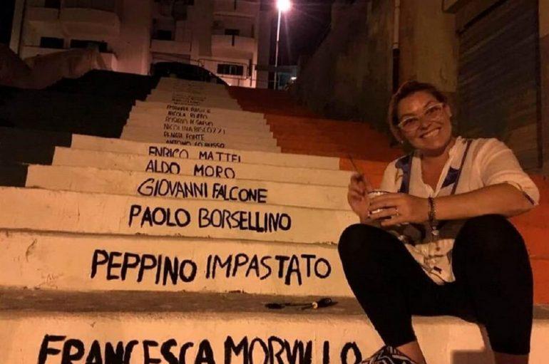 Shkallët e Ligjshmërisë, me emrat e viktimave të mafias