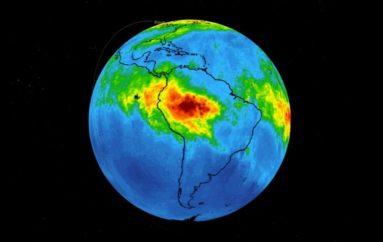 Zjarret në Amazon: Reja e ndotjes së monoksidit të karbonit është e dukshme nga satelitët