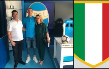 Talenti shqiptar nënshkruan kontratë me ekipin italian