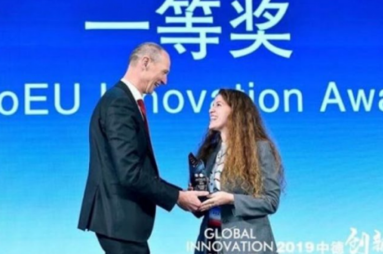 25 vjeçarja shqiptare fiton çmimin e parë në Samitin Botëror të Inovacionit në Kinë