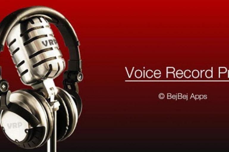 Voice Record Pro: Aplikacioni për incizimin e zërit