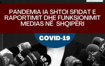Pandemia COVID-19 ia shtoi sfidat e raportimit dhe funksionimit medias në Shqipëri